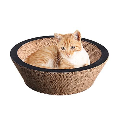 XIAMUSUMMER Cartón Ondulado Nido Gato Juguetes Bed para Animales de Compagnia, Antirayaduras de cartón para rascar y Descansar