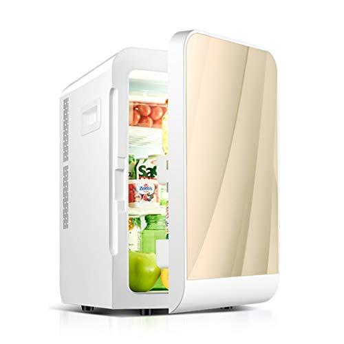 Neveras para Coche Refrigerador residencia de Estudiantes pequeño refrigerador casa Mini Coche de Doble Uso congelador Sola Puerta del Armario de refrigeración Equipo de refrigeración