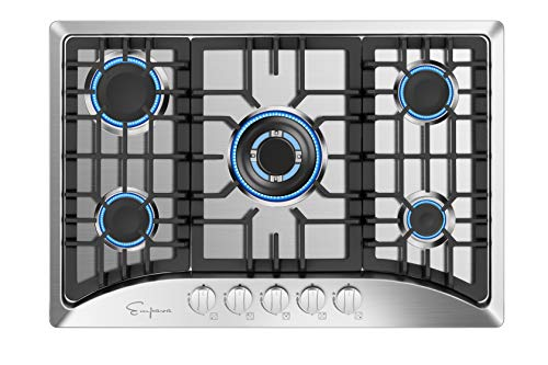 Empava 30' Gas Stove Cooktop with 5 Italy Sabaf Sealed Burners...