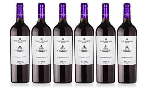 Confezione 6 bottiglie Syrah PaxMentis Leggermente Appassito | Vino Rosso Terre Siciliane IGP | Cantina Tenute Orestiadi