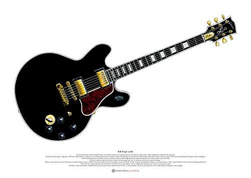 George Morgan Illustration B. B. King 'Lucille' Gitarre Kunst Poster A2 Größe