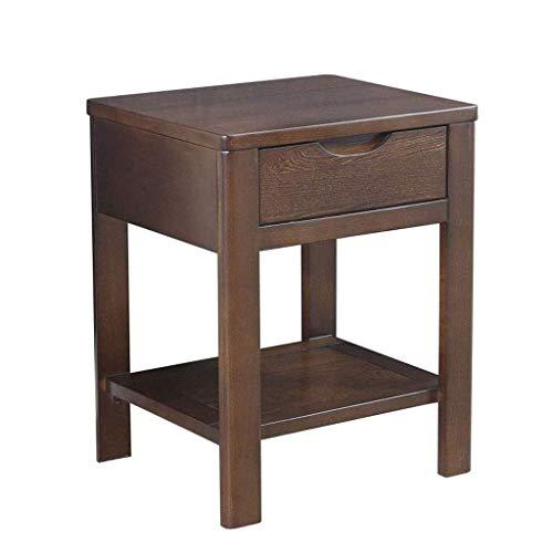 Produits ménagers Table d'appoint de chaise avec étagère Table de chevet en bois Table de nuit avec tiroir de rangement Canapé moderne Table d'appoint Table de téléphone Meubles d'appoint (Couleur: