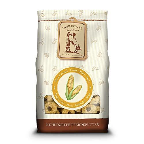 Mühldorfer Mais-Kringel, 600 g, Leckerlis für Pferde, wertvolles Belohnungsfutter mit Mais, bröckeln, schmieren und kleben nicht