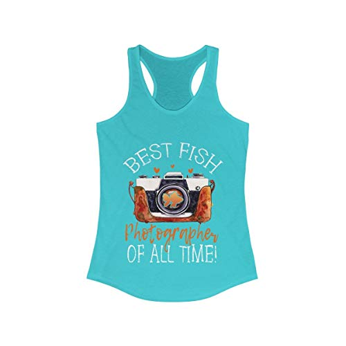 Fish Photographer Camera Best of All Time Cute Funny Tank Top Shirt Women