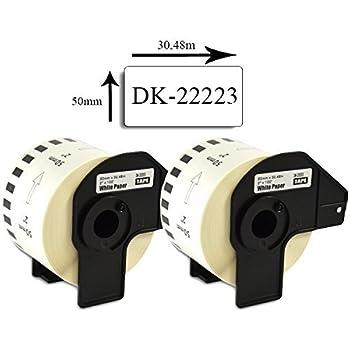 50x Etiketten kompatibel mit Brother DK-22223 DK22223 P Touch QL-1060 QL-1100