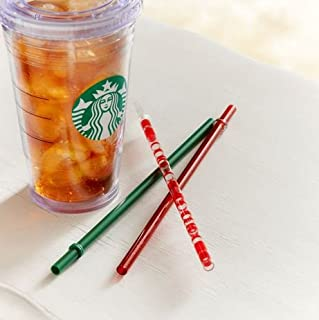 Starbucks 2013 Holiday Cold-To-Go Straws Grande Set of 3