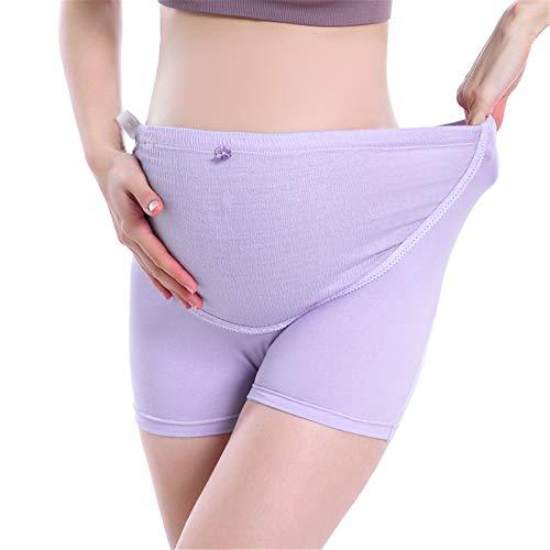 Secret night La Ropa Interior De Las Mujeres para Las Mujeres Embarazadas Alta Cintura Más Tamaño Ajustable Pantalones Cortos De Maternidad,Púrpura,XXL