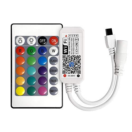 WiFi Smart RGB LED Controller + telecomando a infrarossi (IR) 24 tasti wireless per strisce multicolore Controller Rgbw