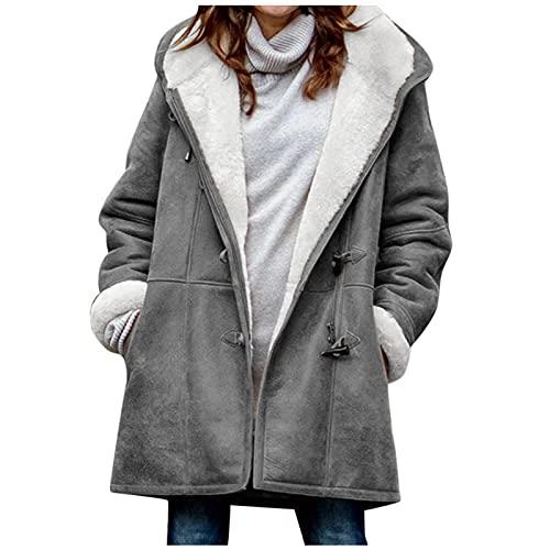 pamkyaemi Chaqueta de invierno para mujer, chaqueta de lluvia de gran tamaño, parka, abrigo acolchado con...