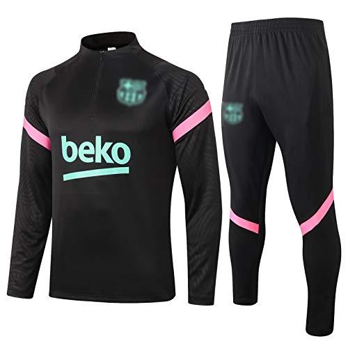 BVNGH Barcelona - Camiseta de entrenamiento de fútbol, 2021 Nueva temporada de manga larga con diseño de moda, tejido transpirable de secado rápido (S-XXL) M