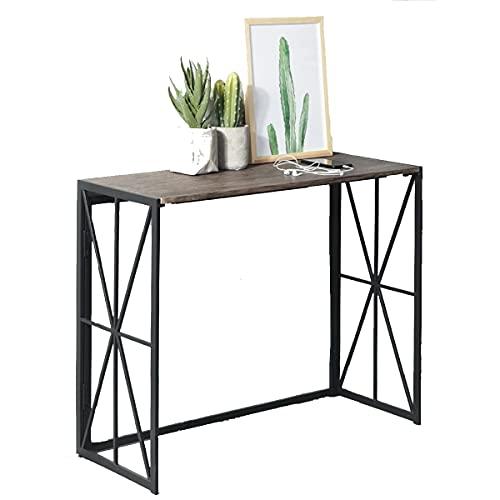 MEUBLES COSY Table Console Table d'appoint Table d'Entrée Bureau Informatique pour Ordinateur, structure en métal 100x38x80cm