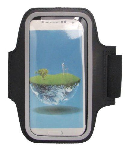 Omenex 639017 - Brazalete deportivo para Samsung Galaxy S4 (plástico), color negro