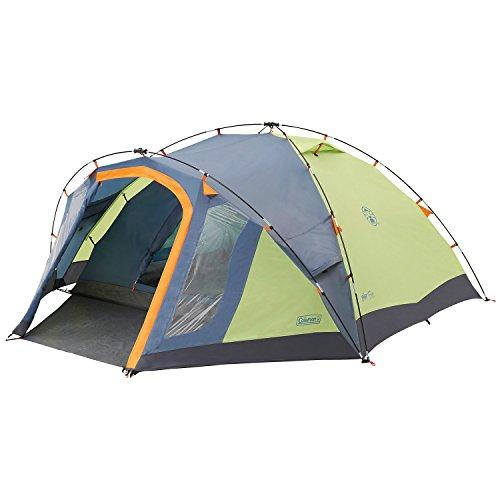 Coleman Fast Pitch Drake, Zelt 4 Personen, 4 Mann Zelt, Igluzelt, Festivalzelt, leichtes Kuppelzelt mit Vorzelt, eine Schlafkabine, wasserdicht WS 3.000 mm