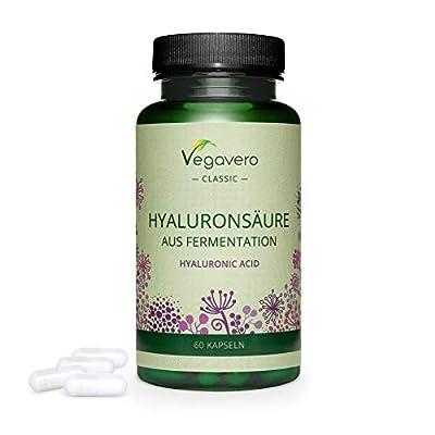 Hyaluronic Acid Vegavero®   Highly dosed - 400mg   60 Capsules   100% Additive-Free & Vegan   800-1500 kDa   Skin + Joints*