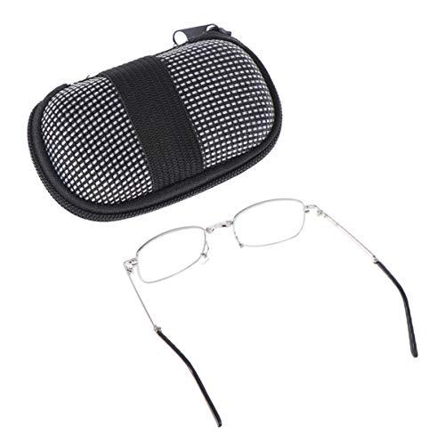 Healifty faltbare lesebrille leser kompakte klappbrille auto zoom presbyopische brille mit etui für oldman