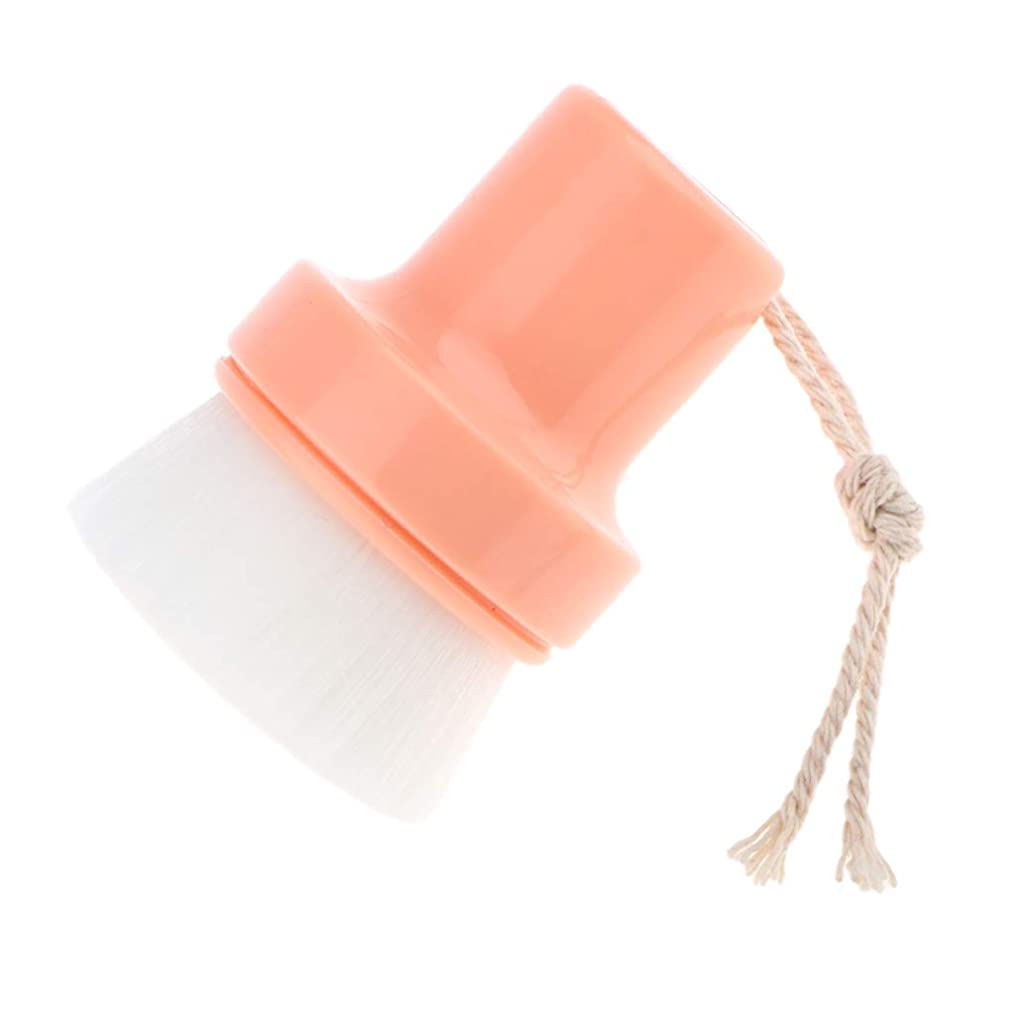 バンジョー稼ぐ雑多な洗顔ブラシ 手動 毛穴ブラシ フェイスブラシ ボデイブラシ スキンケア用品 全2色 - オレンジ