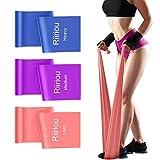 Bandas Elasticas Fitness, 2M Cintas Elásticas Bandas de Resistencia Ideales para Mujer y Hombre Pilates, Fisioterapia, Yoga Estiramientos, Musculacion, Piernas, Fuerza Entrenamiento (Pink_PURP_BLU)
