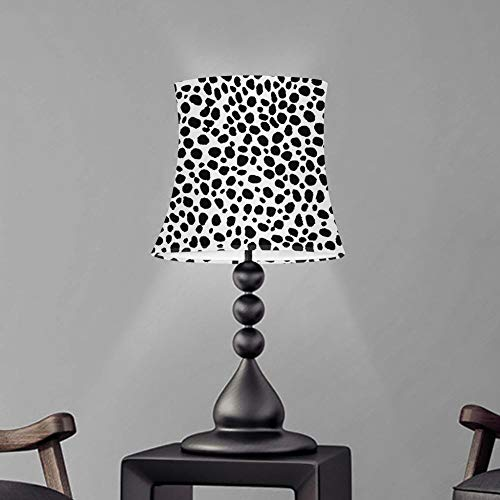 OYPY Estilo nórdico Moderno Shade Leopard Láminas de Leopardo Lámpara de Mesa de la lámpara de la lámpara de Pared Cubiertas de la lámpara de Pared Dos Talla de Tela Pantalla (Color : Custom HSL)