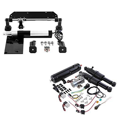 XFMT Electric Center Stand Air Ride Suspension Kit W/Air Tank For Harley Touring Road King Electra Street Glide 2017-2020
