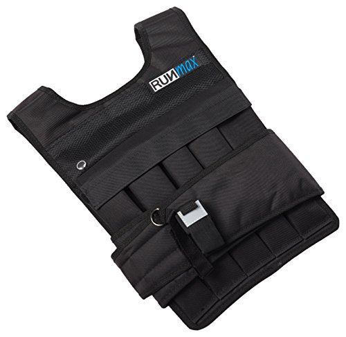 RUNmax Pro Weighted Vest 12lbs/ 20lbs/ 40lbs/ 50lbs/ 60lbs with Shoulder Pads Option (with Shoulder Pads, 40lbs)