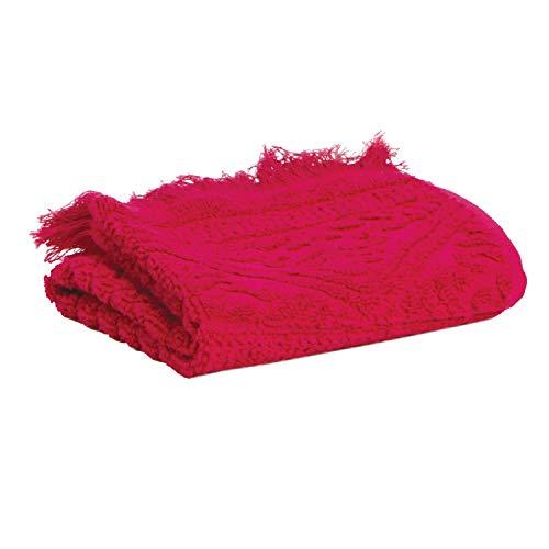 Vivaraise - Serviette de Toilette Zoé – 50x100 cm – Tissu éponge Absorbant 100% Coton – Doux Moelleux – Motif Jacquard élégant