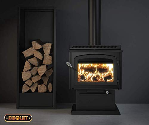 Drolet HT3000 on pedesta - High-efficiency 2020 EPA certified wood stove DB07300 - The HT3000 succeeds to the HT2000