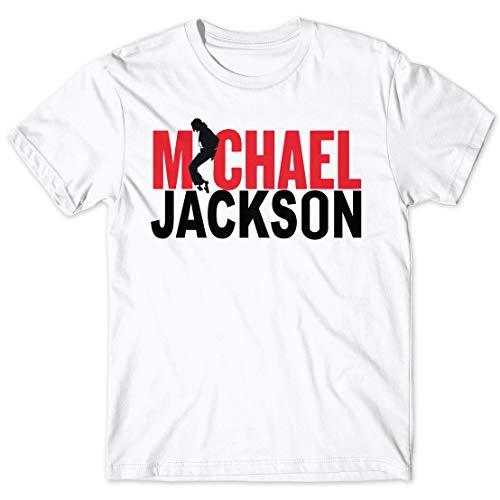 LaMAGLIERIA Camiseta Hombre Michael Jackson t-Shirt 100% algodón, S, Blanco
