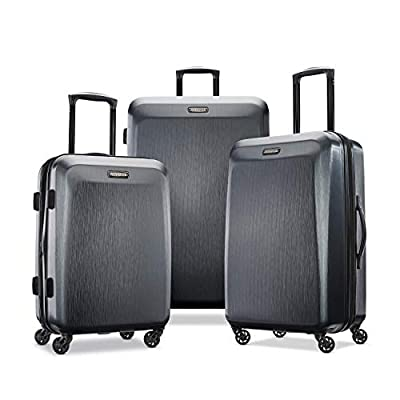 American Tourister Moonlight Hardside Luggage, Anthracite, 3-Piece Set
