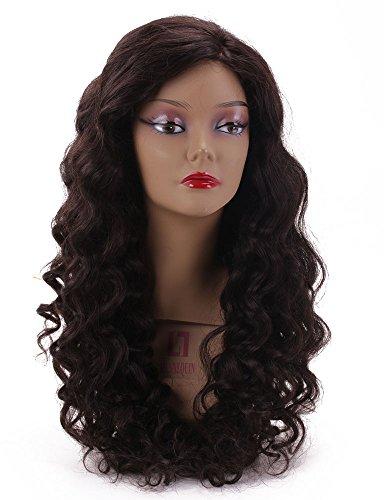 Noir naturel Body Wave Cheveux Vierges 100% humains complète/Avant en dentelle Perruques 25,4 - 66 cm (W3 #)
