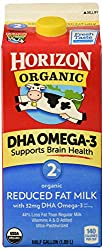 Horizon Organic, 2% Reduced Fat Milk with DHA Omega-3, Ultra Pasteurized, Half Gallon 64 oz