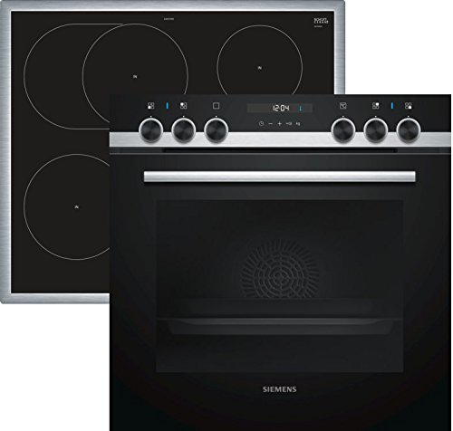 Siemens EQ521IA00 Herd-Kochfeld-Kombination (Einbau) / 59,4 cm / Vollglas-Innentür / Versenkbare Drehwähler / Vier Induktions-Kochzonen / Schnellaufheizung / 3D-Heißluft Plus