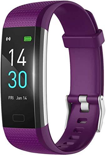 JIAJBG Smart Watch, Dial Ui de la Pantalla Hd de 0.96 Pulgadas, Recordatorio Sedentario de Sueño Inteligente, Realice un Seguimiento de la Pulsera de Movimiento de la Caloría de la