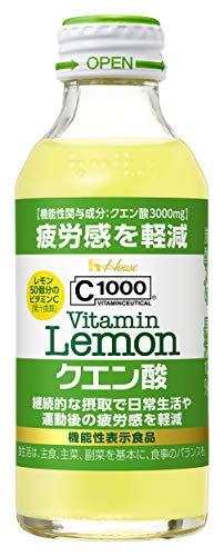ハウスウェルネスフーズ C1000 ビタミンレモン クエン酸 140ml ×30本 機能性表示食品