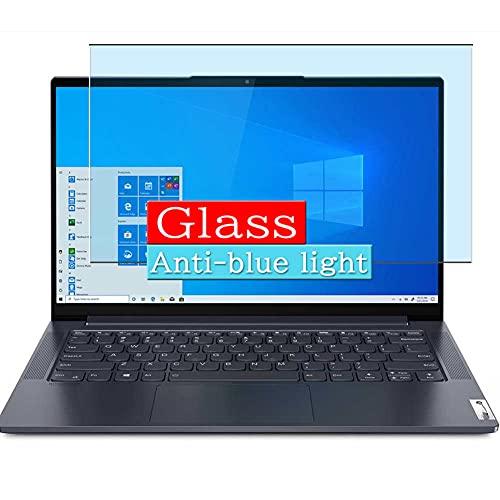 VacFun Filtro Luz Azul Vidrio Templado Protector de Pantalla, compatible con Lenovo 14 IdeaPad Slim 7 14' Visible Area Cristal Screen Protector(cobertura no completa)