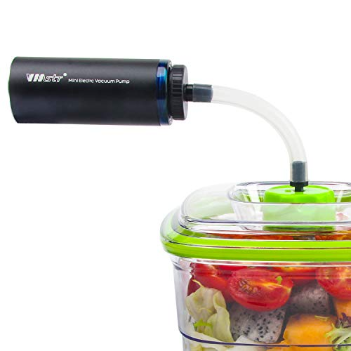VMSTR Handheld Food Vacuum Sealer for FoodSaver Vacuum Seal Quick Marinator,Wide-Mouth Jar Sealer,Bottle Stoppers,Vacuum Zipper Bags and Vacuum Storage Bags.
