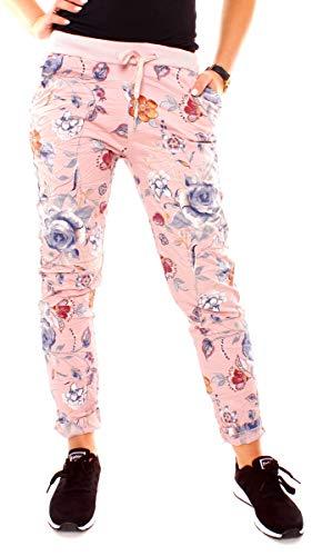 Easy Young Fashion dames zomer joggpants katoen gebloemd