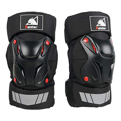 LXF JIAJU Cojines De La Rodilla De La Motocicleta Guardias Racing Off-Road BMX Skateboard Protector Protector Protector Rodiller Equipo Motocross Joelheira MOT (Color : 01)