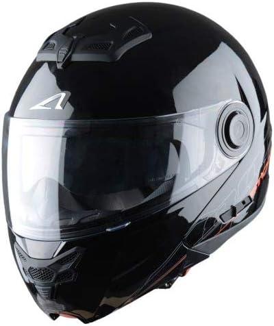 Casque de moto modulable RT800 graphic exclusive STRIPES Casque polyvalent route et ville Casque en polycarbonate black white XS Casque de moto 2 en 1 Astone Helmets