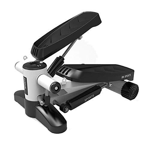 Bicicleta giratoria para Interiores Silent Fitness Stair Stepper, Mini Air Climber Stair Stepper para máquina de Ejercicio, Banda de Resistencia y Pantalla LCD, Oficina, hogar, Entrenamiento