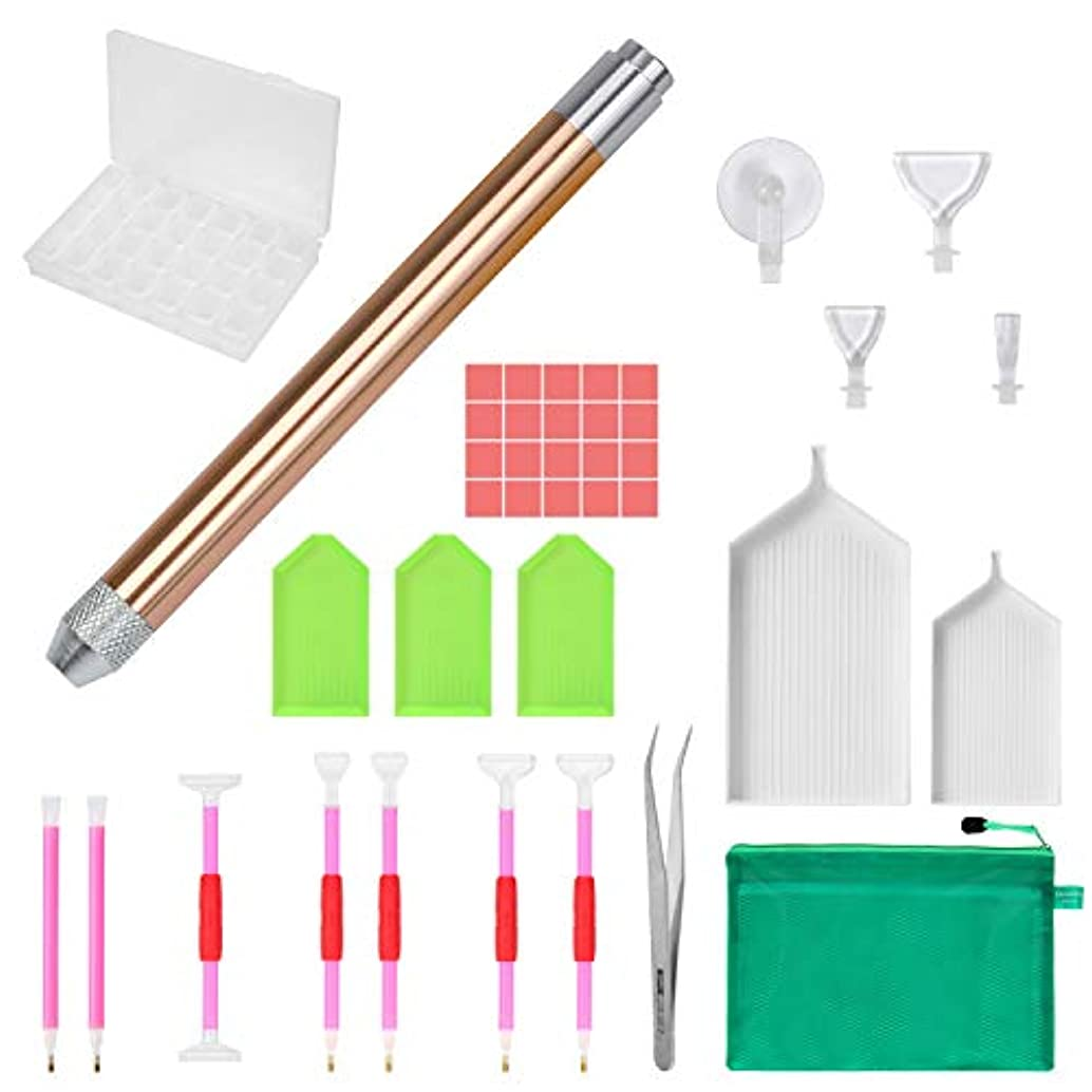 Marry Acting MACTING 35pcs Diamond Painting Pen with Aluminum Alloy Led Diamond Sticky Pen Cross Stitch Tool 5D Update Diamond Painting Kits for DTY Art Craft (35pcs)