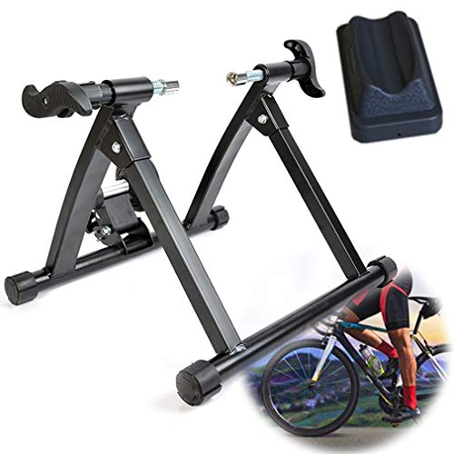 Ashtray Wireless Variable Resistance Indoor Bicycle Trainer with Multifunctional Adjustable Wireless Bike Trainer Stand for Indoor Riding Training and Exercise