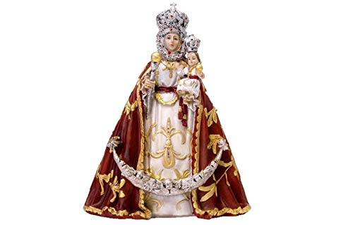 DRW Figura Virgen de la Fuensanta (Murcia) Resina 18 cm con Caja de Regalo con la Historia