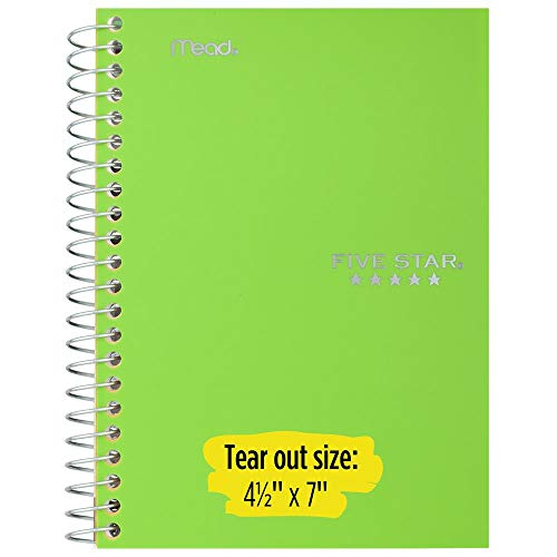 """Five Star Small Spiral Notebooks, 1 Subject, College Ruled Paper, 100 Sheets, 7"""" x 4-3/8"""", Personal Size, Assorted Colors, 12 Pack (38029) Photo #3"""
