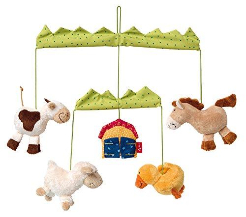 SIGIKID Mädchen und Jungen, Mobile Bauernhof Hangons, Babyspielzeug, empfohlen ab 3 Monaten, mehrfarbig, 41545