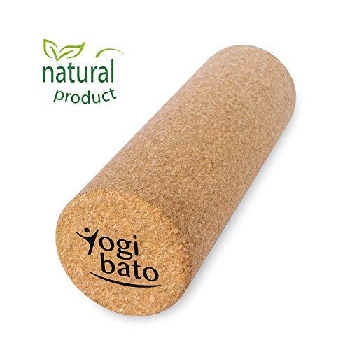 Yogibato Faszienrolle Kork – Massagerolle aus 100% Naturkork – Yoga Pilates Gymnastik & Fitness Massage Rolle – Faszien Selbstmassage bei Verspannungen – Cork Roller