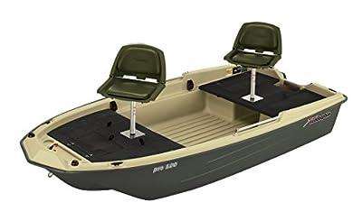 "11027 Sun Dolphin Pro 120 Fishing Boat (Beige/Green, 11'3"") from KL Industries"