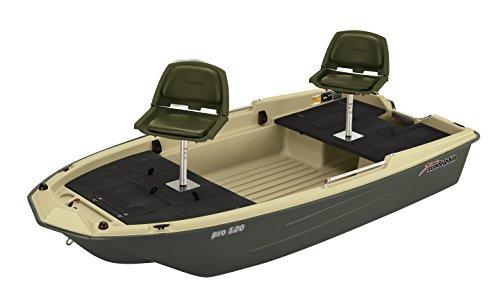 Sun Dolphin Pro 120 Fishing Boat (Beige/Green, 11'3')