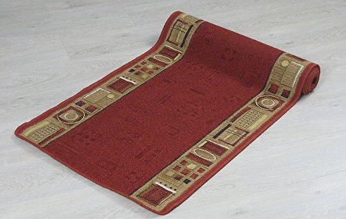 New Tappeto passatoia Ameland Rosse e beige dimensioni diverse (67 x 1000 cm, Rosso)