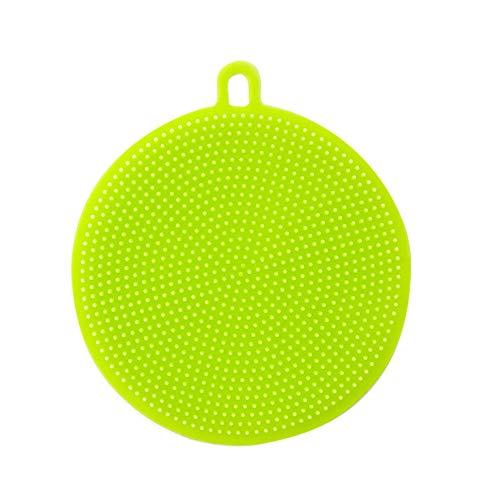 Sulifor Runde Silikon-Spülbürste, antibakterielles Reinigungsmittel für das Geschirrspülen von Silikon-Spülschwämmchen