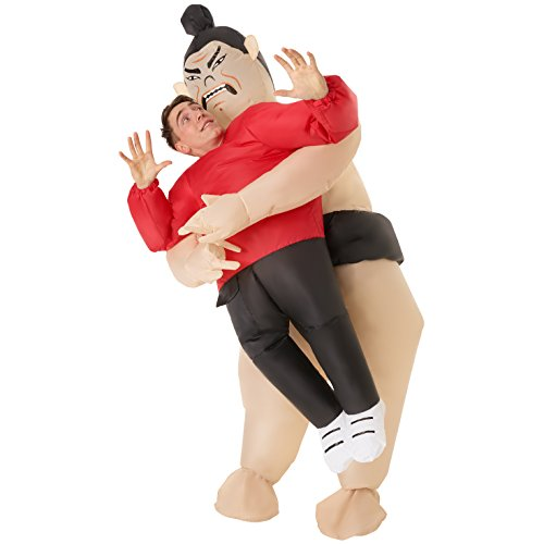 Morph Aufblasbares Sumoringer Kostüm für Erwachsene, lustige Karneval Verkleidung für Damen und Herren - Einheitsgröße, Sumoringer Erwachsene, MCPISW